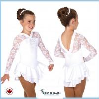 Robe de patinage blanche Ooh La Lace