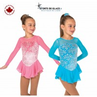 Tunique de patinage princesse fleurs