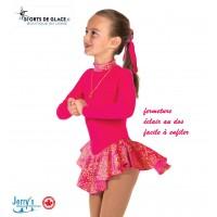 Robe de patinage polaire Fancy rose vif
