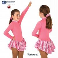 Robe de patinage polaire Fancy rose pale