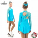 sagester turquoise skating dress