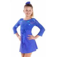 Sagester Blue Swarovski lace dress