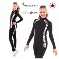Veste de patinage SK8 Noir et blanc