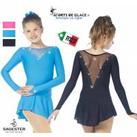 Sagester Swarovski basic lycra dress