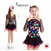 Color dots circus skating dress