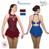 Tunique de patinage Bows and Crystals Bordeaux ou bleu royal