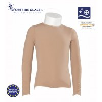 Beige long sleeves fleece Top
