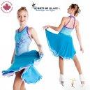 Turquoise Ice dance dress