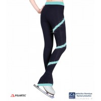 Rhinestones Spiral pants - Aqua
