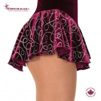 Jupe de patineuse Glitter Loop Bordeaux