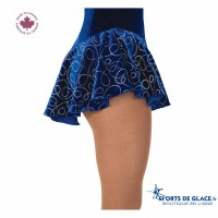 Jupe de patineuse Glitter Loop Bleu roi