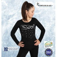 Long sleeves fleece skating top