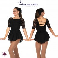 Flora Lace Dress- Black
