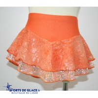 Orange double skating skirt