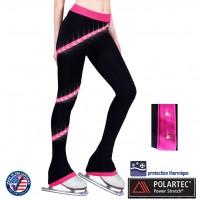 Pantalon de patinage Crystal Spirale Rose