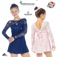 Robe sagester dentelle empire