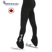 Pantalon polaire noir lame cristal