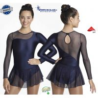 Navy Blue Sparkling lycra dress