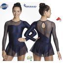 Navy Blue Sparkling lycra dress