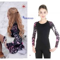 Long sleeves ice skating top