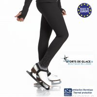 Pantalon de patinage étrier polaire strass