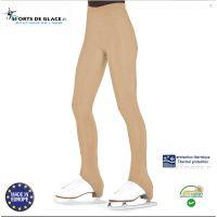 Fleece skin color heel skating pants