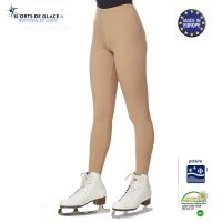 Nude warm fleece leggings
