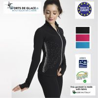 Rhinestuds fleece jacket