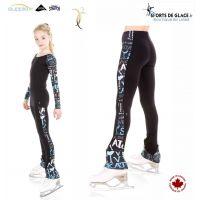Legging de patinage SK8 noir et bleu