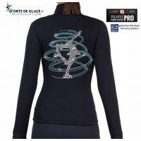 NY2 aqua spiral fleece pants
