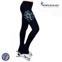 Heart/&M Strass Patinage Artistique Collant Adulte Gymnastique Patinage sur Glace Pantalons Chaussettes avec des Chaussures de Couverture Enfants Longue Remise en Forme Leggings