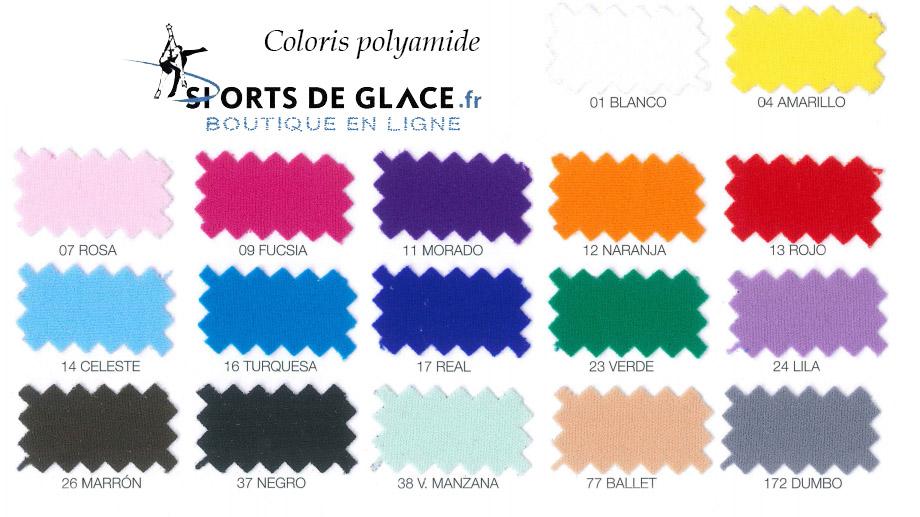 paltte couleurs microfibre polyamide